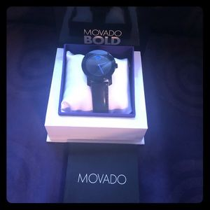 Movado bold watch - Black and Blue